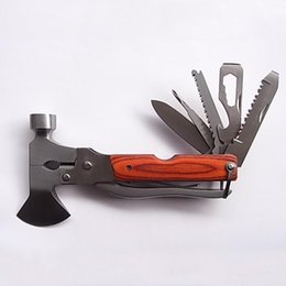 Wholesale Multifunction Axe Outdoor Hunting Camping Survival Pliers Portable Folding Knife Multi tool