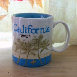 Wholesale 16oz Capacity Ceramic Starbucks City Mug Best Classical Coffee Mug Cup with Original Box California City