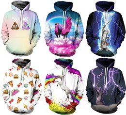 Wholesale 2016 NWT Autumn Winter D Animal Print Fashion Sport Women Hoodies Coat With Hat Pocket Digital Print Hooded Pullovers S XL