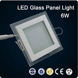 New arrivals LED glass Square Panel Recessed Wall Ceiling Downlight AC85-265V 6W 12W 18W high bright SMD5730 LED indoor light