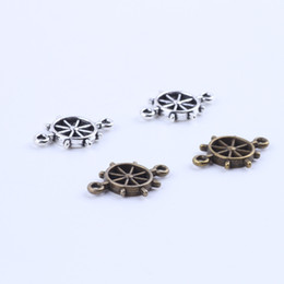New fashion silver copper retro Steering wheel pendant Manufacture DIY jewelry pendant fit Necklace or Bracelets charm 300pcs lot 5265x