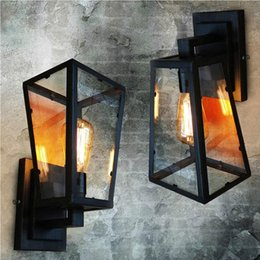 Wholesale New design Loft Antique Color Nordic Industural Vintage Wall Light Iron Coffee Store Dining Room Garden Lighting Decoration E27
