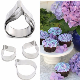 Wholesale 3pcs Flower Leaf Pattern Cake Cookie Cutter Baking Mold Stainless Steel Biscuit Fondant Modeling Shape Decorational Tool