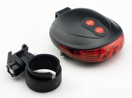 2014 New Road Bicycle Laser Tail Light Bike Safety Back Rear LED Light Taillight with 5 LED & 2 Laser Launcher Blue Red Light