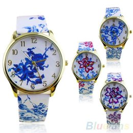 New Arrived Women's Fashion Geneva Watch Analog Elegant Flowers Pattern Quartz Wrist Watches 00EL