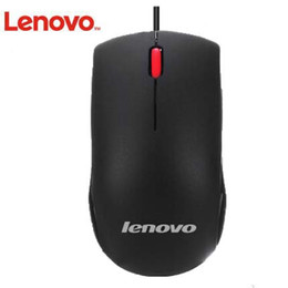 Wholesale Lenovo M120 big red USB wired mouse black dpi keys Optical mouse For PC and Laptop Computers