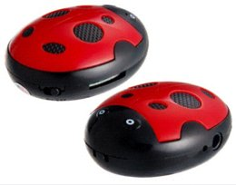 Ladybug Design MP3 Player with TF Card Reader Red Free Shipping mp3 player to amplifier mp3 players 30gb