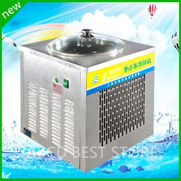 Wholesale fried ice pan machine fried ice machine freezing fried ice cream roll pan fried ice cream pan flat pan fry ice machine fried ice pan machine