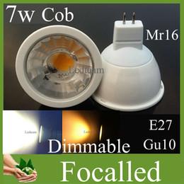 20% off Cob Led Bulb Lamp 7w Gu10 Mr16 E27 Dimmable Led Spot Light 12v 110-240v warm   cool White Natural White 4500K 120 beam angle