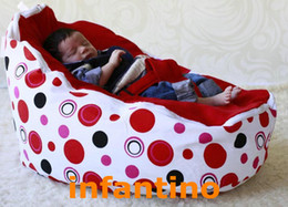 Wholesale baby bean bag baby beanbag bouncer infant sleeping bed RED DOTS