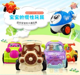 Wholesale Children Inertia with Movement Car Baby Educational and Learning toys Aircraft Cars Vehicle Model per set for gift