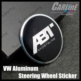 Wholesale MIX VW GTI WOLFBURGE R Rline ABT Rabbit Crystal Steering Wheel Badge Emblem Sticker Golf CL02 M26640