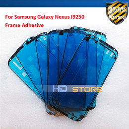 Wholesale-20pc Front frame Panel Touch Outer Glass Digitizer Screen For Samsung Galaxy Nexus I9250 Adhesive Glue sticker
