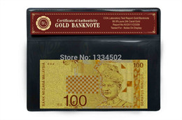 Wholesale 24k Gold Malaysia Ringgit Note Certificate of Authenticity COA banknote foil bank purity