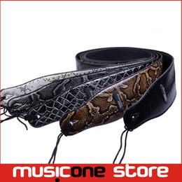 Descuento guitarra acústica de nylon 5psc venta al por mayor nueva correa de IB 2.7inch ajustable PU cuero correa de guitarra acústica bajo MU0445