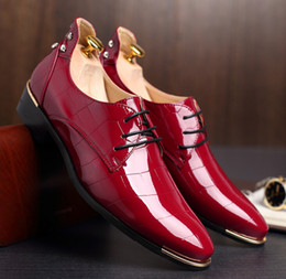 NEW arrival British red leather shoes Men's dress shoes, Male Business oxford shoes ,Top quality brand for men Wedding shoes NXX223