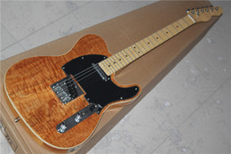 Wholesale The Factory Customzied Electric Guitar with Original Body and Maple Neck and Black Pickguard and Flame Maple Veneer