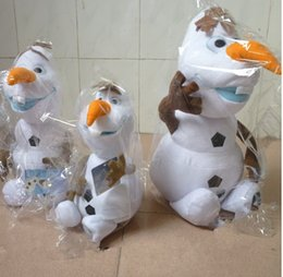 Wholesale In Stock Hot Sale Frozen Olaf Dolls Plush Toys Cartoon Toddler Baby Ice Snow Olaf Toys Kids Gift Dolls CM Different Size GX726