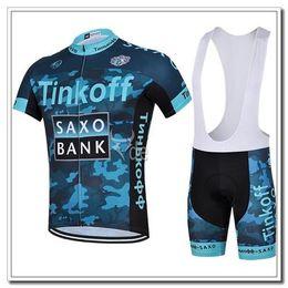 Cuissard vente à vendre-Meilleures ventes Tinkoff Saxo Bank Camouflage 2015 Jerseys de vélo respirant Quick Drying manches courtes bib Pant Pantalon Custom Cycling Jersey ensembles