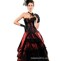 Wholesale-lace corset dark palace vest pattern back tie
