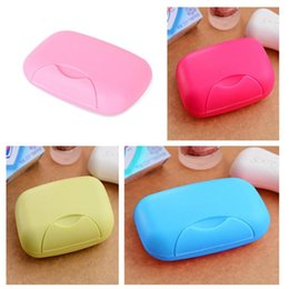 Wholesale New Arrivals Hand Soap Box Dishes Seal With Cover Waterproof Leak Bathroom Accessories Plastic JB2