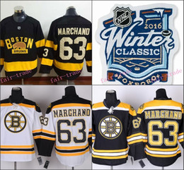 Wholesale Boston Bruins Winter Classic Jersey Brad Marchand Black All Stitched New Style Jerseys Cheap Fast Delivery