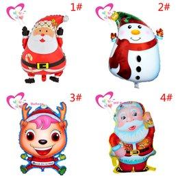 Wholesale 50 Styles Christmas Decorations Balloons High Quality Aluminum Film Santa Claus Snowman Reindeer Christmas Party Balloon