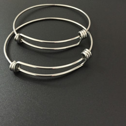Wholesale Simple 316L Stainless Steel Wire Expandable Adjusted Bangle Bracelets Triple Loop Bangle