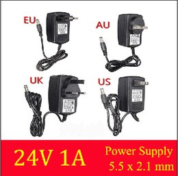 Wholesale New AC Converter Adapter for DC V A Power Supply Charger for LED Strip Light CCTV US UK EU AU plug for ADSL Cats mm mm