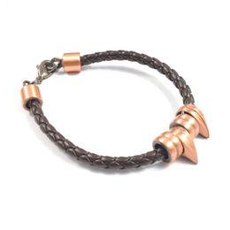 Fashion Men Bracelets & Bangles Casual Wear Men Bracelets Braided Leather Stainless Steel Wristband Bangles Christmas