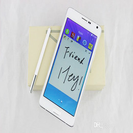 Wholesale Note Real Appearance N9100 MTK6582 Quad Core Android inch Screen MP Camera GB RAM GB ROM G G Cell Phone DHL EMS Free