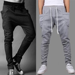 Wholesale Hot Baggy Tapered Bandana Pants Hip Hop Dance Harem Sweatpants Drop Crotch Pants Men Parkour Sport Track Casual Trousers Free Ship