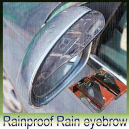 Wholesale Car Stickers Rearview mirror Rain Shade Universal Block rain PVC Weatherstrip Auto Mirror Rainproof Rain eyebrow set