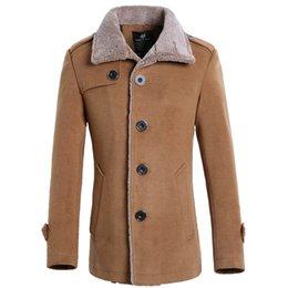 Fall-2015 Men's Clothing Coats & Jackets Trenchstand warm collar berber fleece male woolen jacket outerwear male stereo free