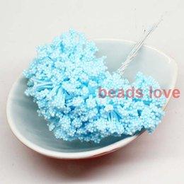 (144pcs lot) Sale!! big foam leeks Blue flower Chives Flower with wire stem wedding flowers (w03317)