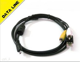 Wholesale 8 Pin USB AV Digital Camera data Cable for Nikon cameras Coolpix S210 CASIO SONY and others
