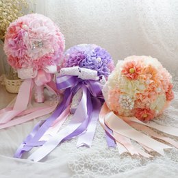 Wholesale New Design Hot Sell Advanced Customization Colorful Crystals Hand Made Wedding Bouquet The Bride Hand Holding Flowers In Stock