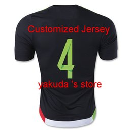 Wholesale Mexico R MARQUEZ Black Home Soccer Jersey Tops Customized Thai Quality Soccer Jerseys Online Sale Store