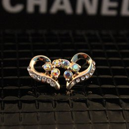 Wholesale Nike classic Europe elements Rhinestone clover flowers explosion Earrings peiyao