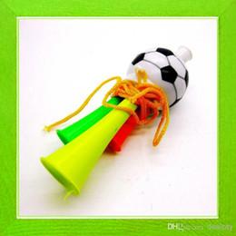 Football jeux de la coupe du monde en Ligne-2014 Nouveaux Vuvuzela Monde Trompettes Coupe fans Corne cornes en plastique spécial jeux de football / soccer nécessaires sport en plein air Accs Jeux de football