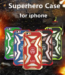 Wholesale R Just iPhone s Plus s Case Shockproof Heavy Duty Aluminum Metal Avengers Idea Phone Case For Mens and Youths