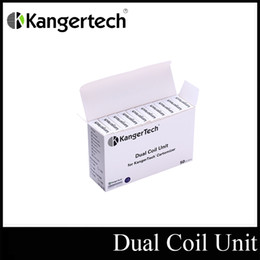 Wholesale Kanger Dual Coil Unit Kanger Replacement Coils For Protank III Atomizer Coil Head for Mini ProtankIII Authentic