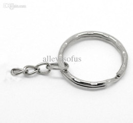 Wholesale-500 pcs lot Free Shipping! Silver Tone Key Chains & Key Rings 45mm long YSK020