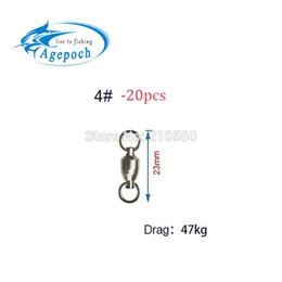Wholesale Agepoch Lb high quanlity Heavy Duty Ball Bearing mm Swivel Solid Rings For Sea Fishing