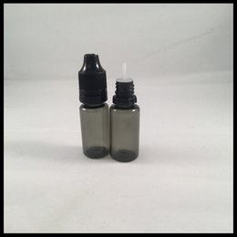 10ml E Liquid Bottle PET Black Dropper Bottle With Childproof Tamper Cap And Needle Tip Dropper Bottles