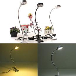 Wholesale 3W v V belt clip lamp LED Book Reading Table Desk Lamp Clip On Night Light Bed Room Bulb White