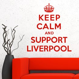 Wholesale Keep Calm And Support Support Liverpool Vinyl Quote Wall Sticker Art Decal