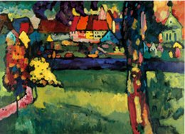 Wholesale Wassily Kandinsky Paintings for sale Murnau abstract art Home Decor High Quality Handmade