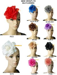 Wholesale 15cm soft silk flower for sinamay fascinator and hair accessory colours
