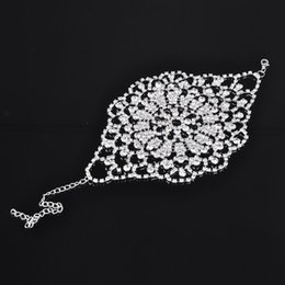 Wholesale 2015 Hot sale Bridal Bracelet clear crystal hand cuff multi fuction rhinestone bridal Armlets wedding accessories X60 SS1048W S1